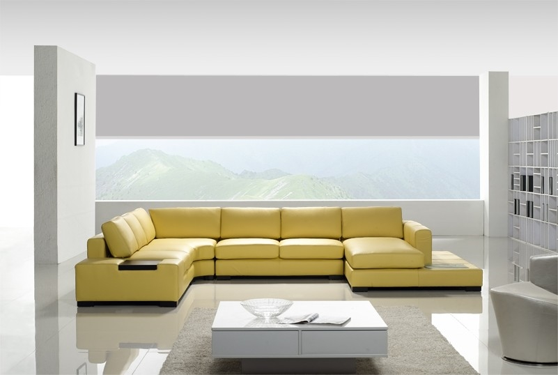 Leather Sectional Sofa Tos Lf 2029 Yel