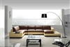 Modern Yellow and Brown Leather Sectional Sofa TOS-LF-2029-YRED