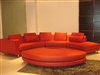 Modern Three Piece Leather Sectional Sofa - Red TOS-LF-2033