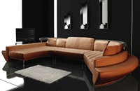 Ultra Modern Leather Sectional Sofa Set TOS-LF-2056