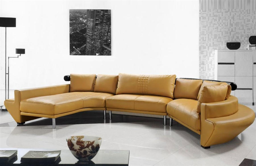 sectional contemporary in sofa leather white modern
