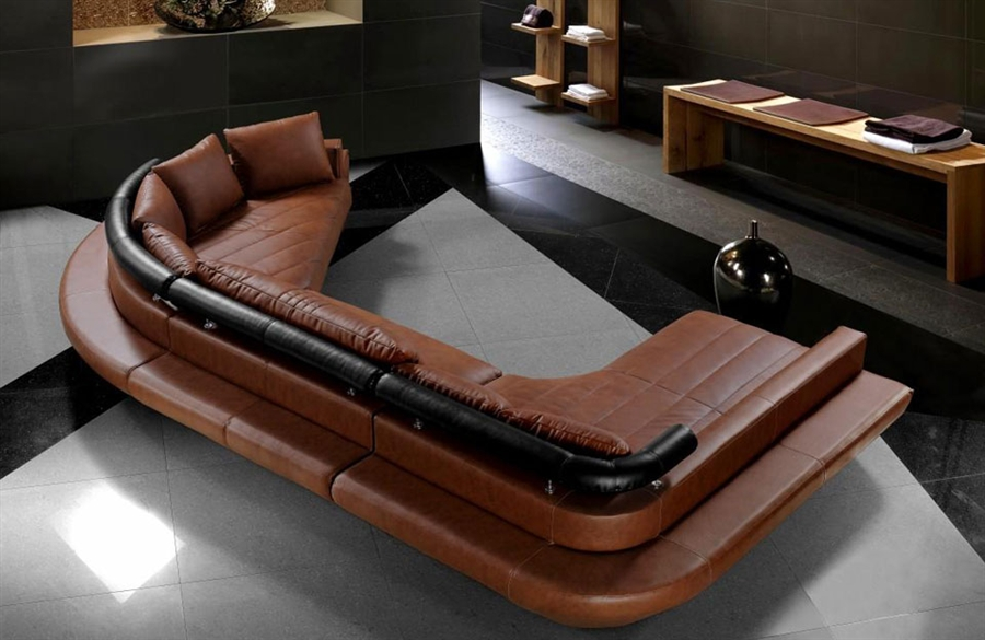 list price 460000 - Leather Sectional Sofa