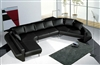 Ultra Modern Leather Sectional Sofa Set TOS-LF-2056-BK