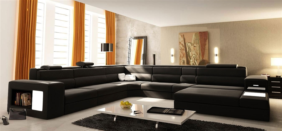 Modern Italian Design Sectional Sofa Tos Lf 2205