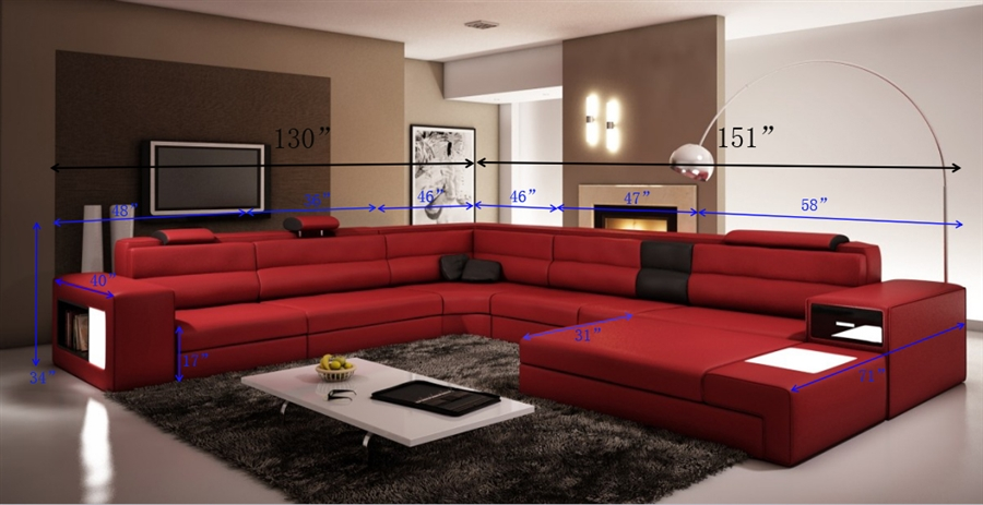 Marvelous Modern Italian Design Sectional Sofa Dark Red With Black Accent Caraccident5 Cool Chair Designs And Ideas Caraccident5Info
