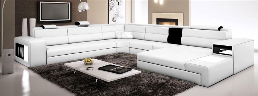 Modern Italian Design Sectional Sofa Tos Lf 2205 Ivory
