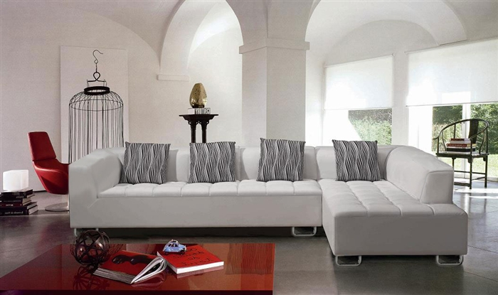 White Sectional Sofa Set TOSLF2235