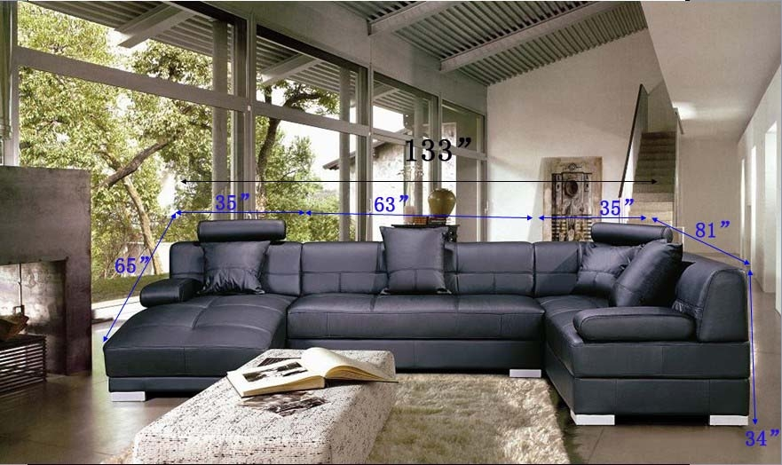 Modern Black Sectional Sofa Set Tos Lf 3334