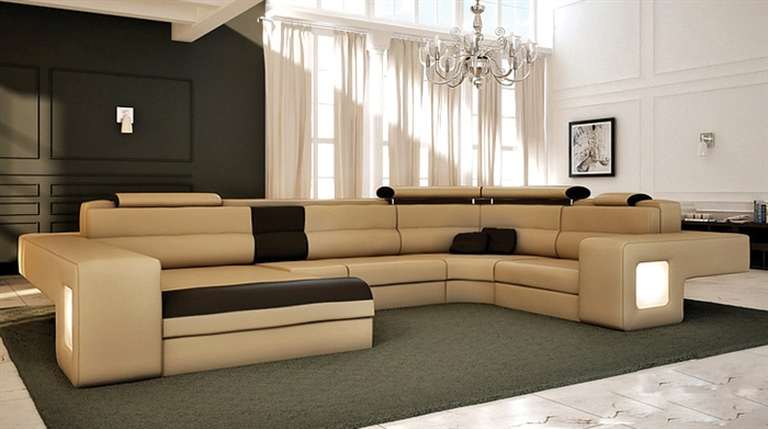 Italian Design Modern Sectional Sofa - Honey TOS-LF-4001-HONEY