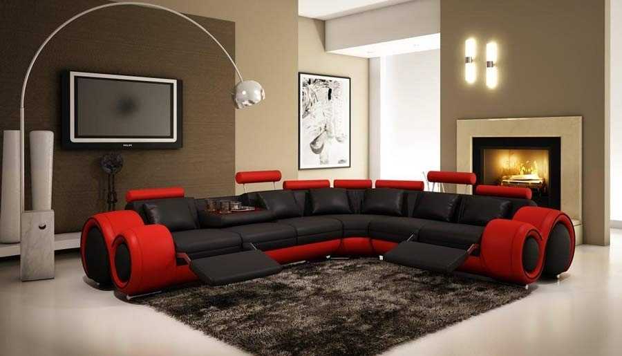Magnificent Italian Design Franco Sectional Sofa Black And Red Ocoug Best Dining Table And Chair Ideas Images Ocougorg