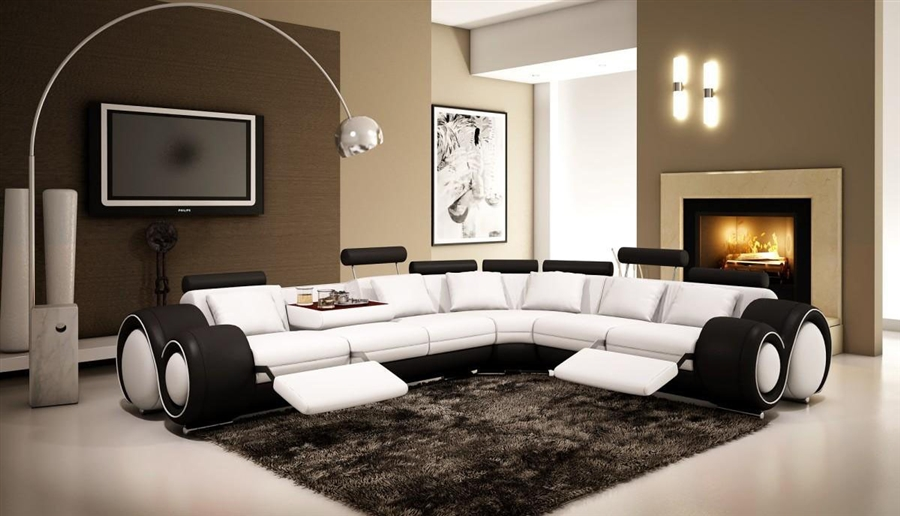 Italian Design Franco Sectional Sofa TOS-LF-4087-WB : sectional sofa white - Sectionals, Sofas & Couches