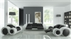 Modern Black and White Sofa Set TOS-LF-4088-BW