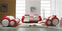Modern White and Red Sofa Set TOS-LF-4088-WR