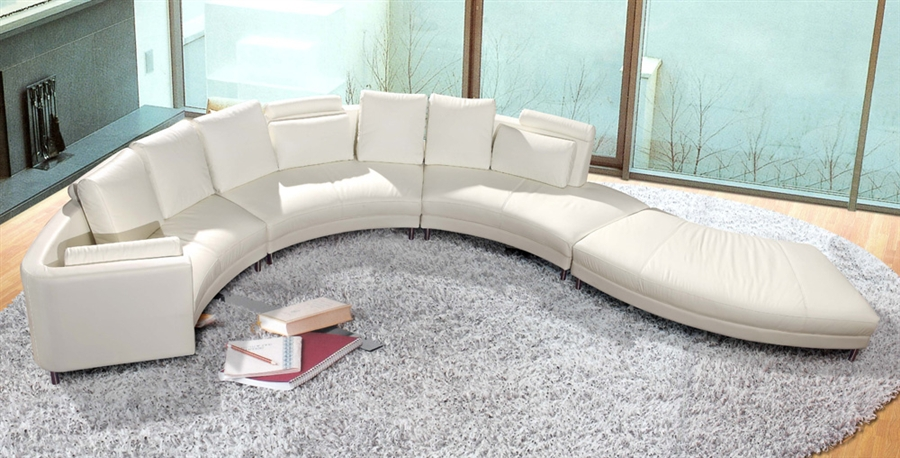 Modern Style Sectional Sofa Curved TOS LF 4522