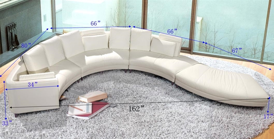 Modern Style Sectional Sofa - White