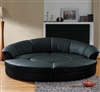 Modern Circle Sectional Sofa Set with Table - Black TOS-LF-6722-BL