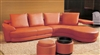 Contemporary Orange Sectional Sofa Set TOS-LF-8333