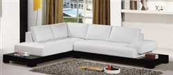 Contemporary White Sectional Sofa TOS-LF-B6222