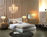 Moda Modern White King Bed TOS-LF-GRL-K