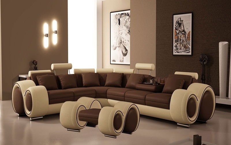 Peachy Italian Design Franco Sectional Sofa With Ottoman Pabps2019 Chair Design Images Pabps2019Com