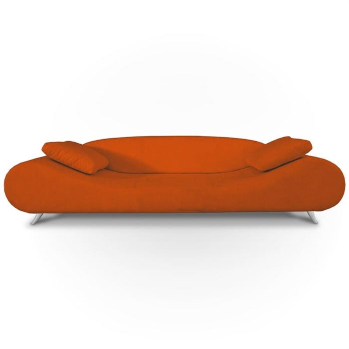 Modern Orange Lounge 3 Seater Sofa TOS TIK MOOD 80S ORANGE