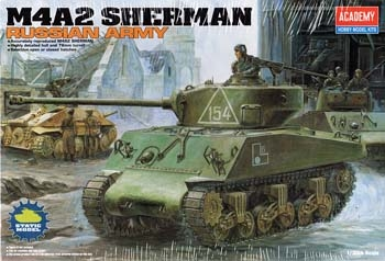 Academy #13010 1/35 M4A2 Sherman Russian Army
