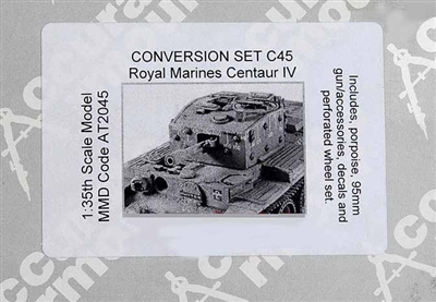 Accurate Armour #C45 1/35 Royal Marines Centaur IV Resin Conversion Kit