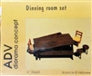 ADV/Azimut Productions #35603 1/35 WWII Europe Dining Room Diorama Set