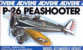 Advent 3308 1/72 Boeing P-26A Peashooter