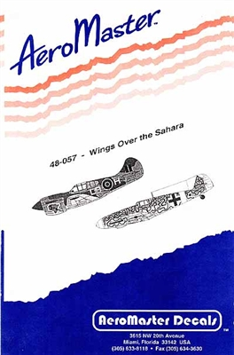 AeroMaster #48-057 1/48 Wings Over the Sahara: P-40, Hurricane, Bf 109 Decal Sheet