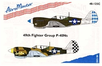 AeroMaster #48-125C 1/48 49th Fighter Group P-40Ns