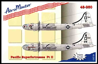 Aeromaster #48-260 1/48 B-29 Pacific Superfortresses  Decal Sheet