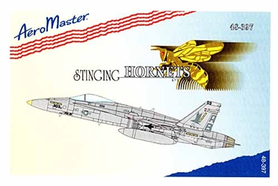 AeroMaster #48-397 1/48 F-18C Stinging Hornets Pt. IV Decal Sheet