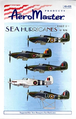 AeroMaster #48-439 1/48 Sea Hurricanes At War Part 1 Decal Sheet