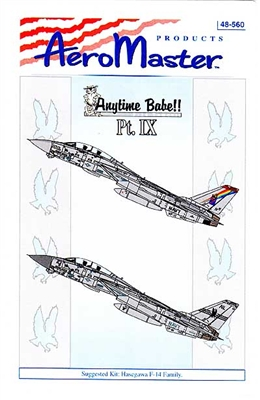 AeroMaster #48-560 1/48 Anytime Babe!! F-14 Tomcat Pt. IX Decal Sheet