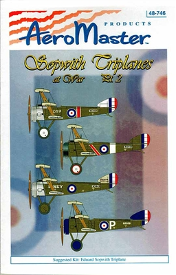 AeroMaster #48-746 1/48 Sopwith Triplane At War Part 2 Decal Sheet