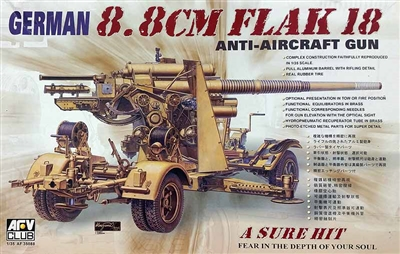 AFV Club #35088 1/35 German 8.8cm Flak 18 Anti-Aircraft Gun