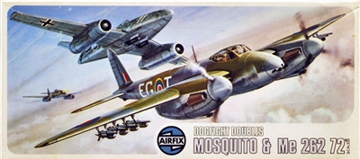 Airfix #03142 1/72 Mosquito & Me 262 Dogfight Doubles
