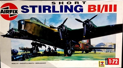 Airfix #07002 1/72 Short Stirling B.I / B.III w/Bomb Cart