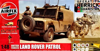 Airfix #50121 1/48  Operation Herrick Afghanistan Land Rover Patrol