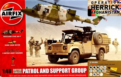 Airfix #50123 1/48  Operation Herrick Afghanistan Patrol & Support Group