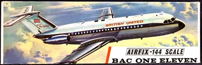 Airfix #SK401 Type 3 1/144 BAC One-Eleven 1-11 British United