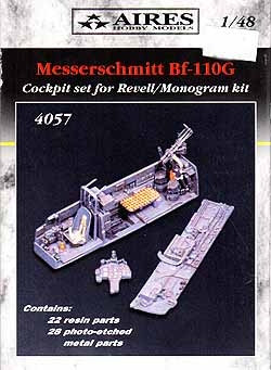 Aires #4057 1/48 Messerschmitt Bf-110G Cockpit Set