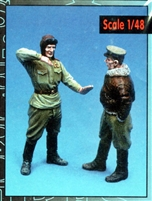 Aires #F4002 1/48 Russian Aces figures (2)