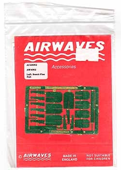 Airwaves #48062 1/48 Luft. Bomb Fins No.3 Photo Etch Set