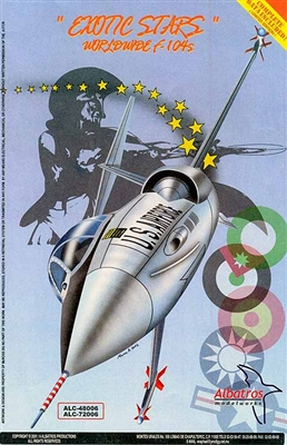 Albatros Modelworks 48006 1/48 Exotic Stars Worldwide F-104s Decal Sheets