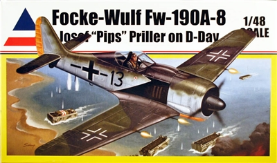Accurate Miniatures #0402 1/48 Focke-Wulf Fw 190A-8 Priller D-Day
