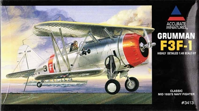 Accurate Miniatures #3413 1/48 Grumman F3F-1 Mid-30s Navy Fighter