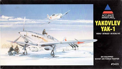 Accurate Miniatures #3423 1/48 Yakovlev Yak 1 w/Skis