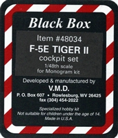 Black Box #48034 1/48 F-5E Tiger II Cockpit Set